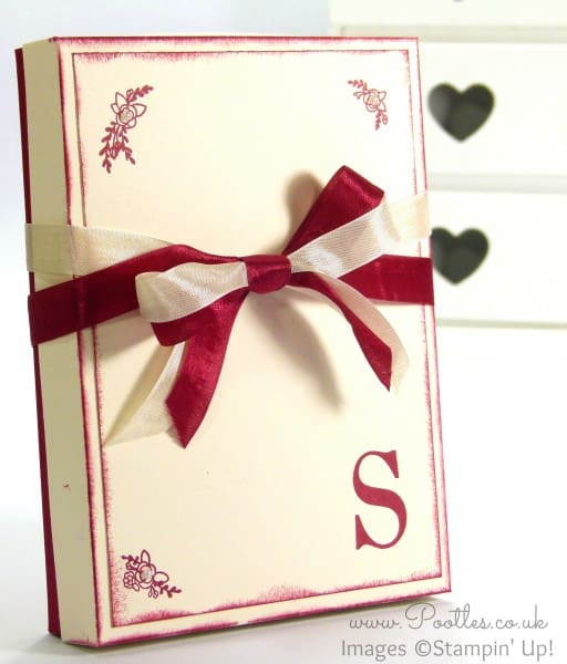 Stampin' Up! Sophisticated Serifs Note Card Box Tutorial