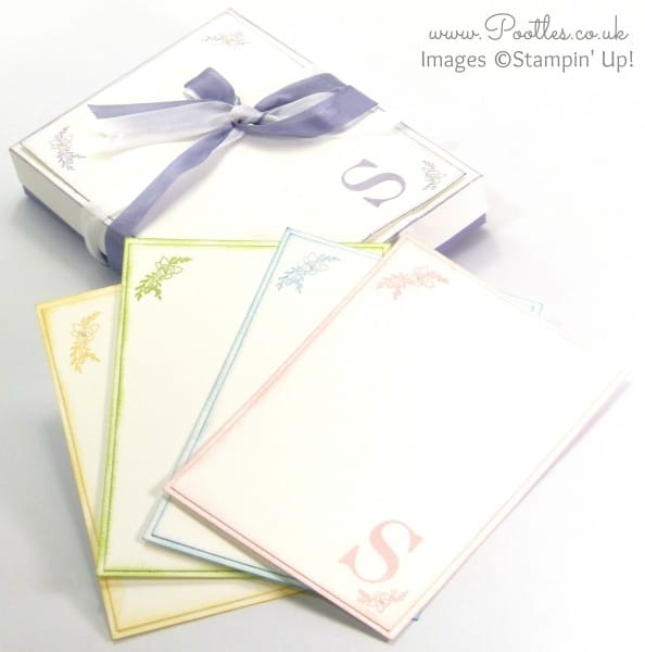 Stampin' Up! Sophisticated Serifs Note Card Box Tutorial and Cards