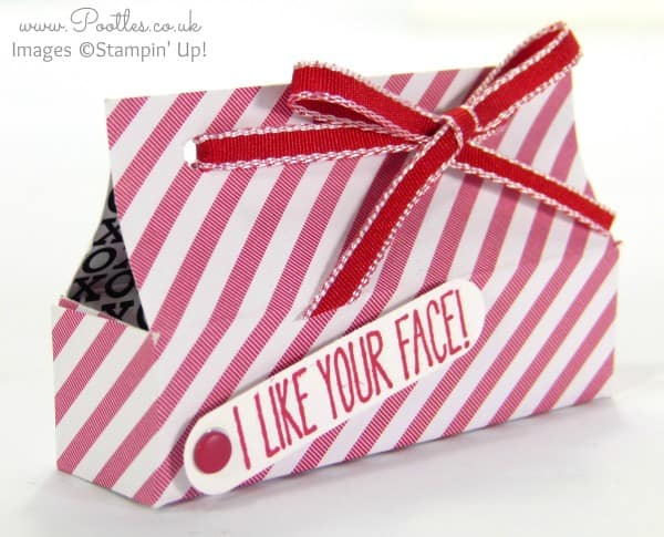 Stampin' Up! UK Demonstrator Pootles - Lip Balm Box Tutorial using Stacked With Love DSP Close Up