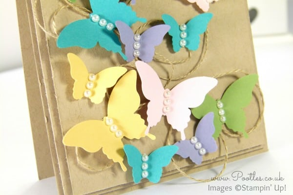 Pootles' Springwatch Wreath Inspired Card Elegant and Bitty Butterflies