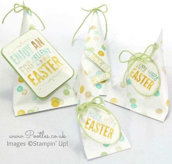 Pootles - Stampin' Up! DSP Easter Sour Cream Pouches Varying Sizes