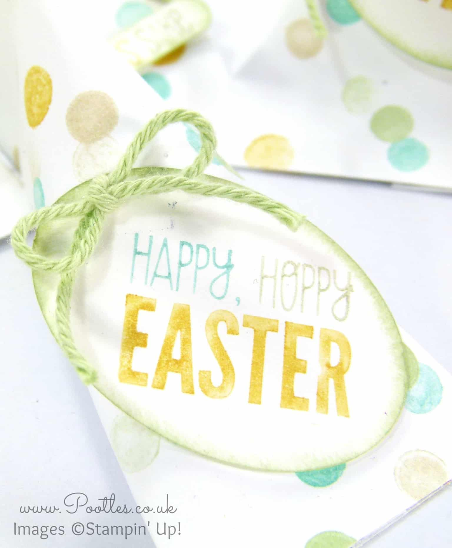 Stampin' Up! DSP Easter Sour Cream Pouches Varying Sizes