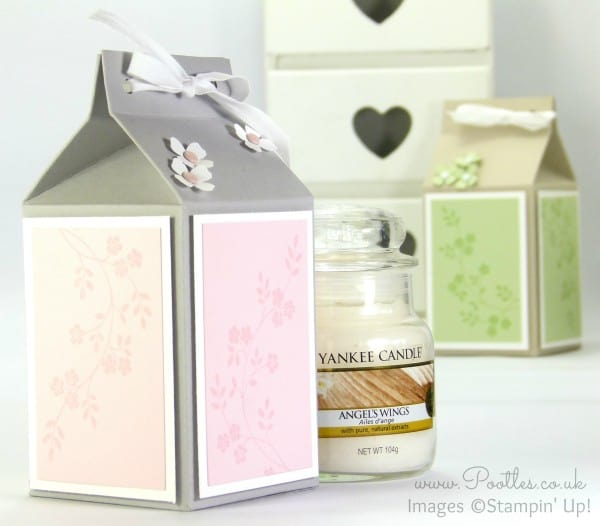 Pootles' Yankee Candle Jar Box Tutorial using Stampin' Up! Supplies