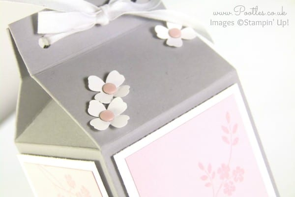 Pootles' Yankee Candle Jar Box Tutorial using Stampin' Up! Supplies Close Up