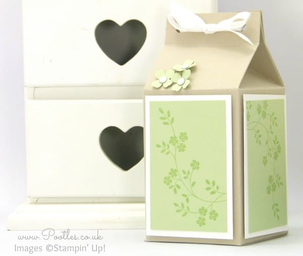 Pootles' Yankee Candle Jar Box Tutorial using Stampin' Up! Supplies Pistachio Pudding