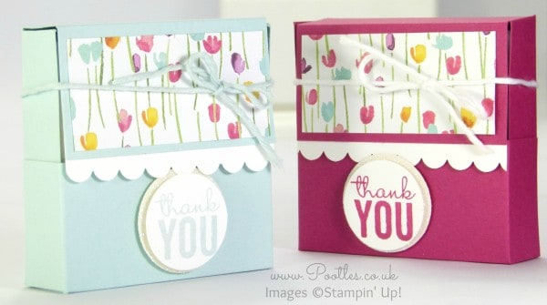 Pretty Box for 3x3 Cards using Painted Blooms & Petals