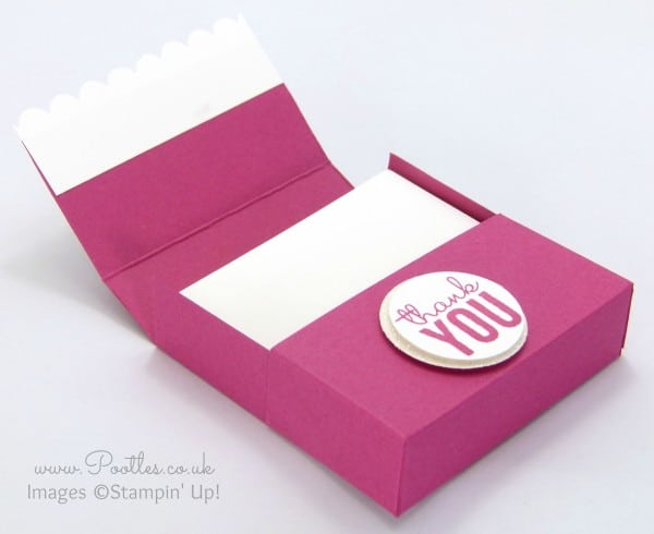 Pretty Box for 3x3 Cards using Painted Blooms & Petals Open