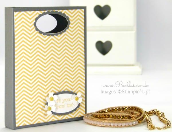 South Hill Designs & Stampin Up Sunday Gift Box Bag Tutorial So Saffron Bag