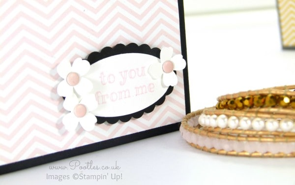 South Hill Designs & Stampin Up Sunday Gift Box Bag Tutorial Stamped Detail