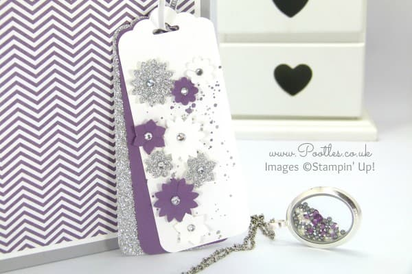 South Hill Designs & Stampin' Up! Sunday Huge Bag For A Big Book! Perfect Plum Tag