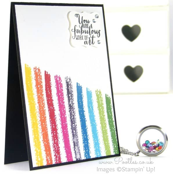 South Hill Designs & Stampin Up Sunday Rainbows Card & Locket Tutorial
