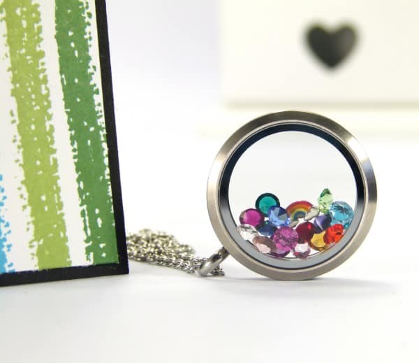 South Hill Designs & Stampin Up Sunday Rainbows Card & Locket Tutorial. Locket