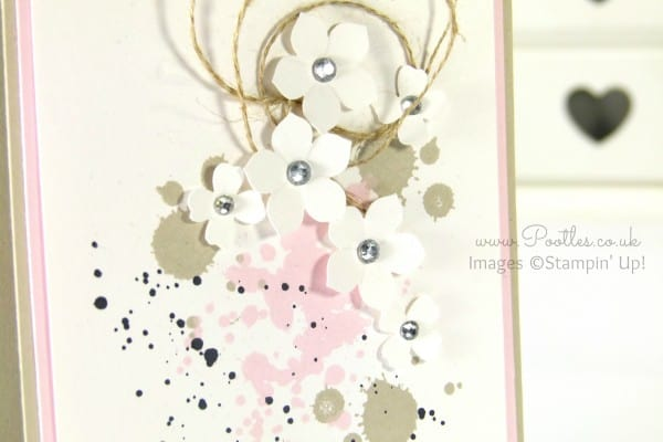 South Hill & Stampin' Up! Sunday Delicate Floral Card Tutorial Close Up