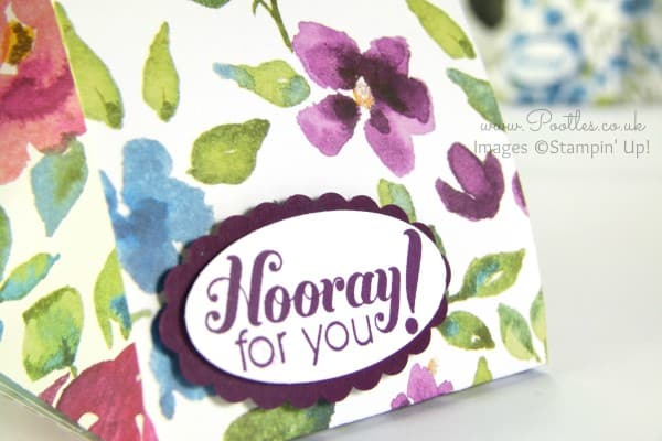 Stampin' Up! Bloomin' Fat Squishy Bag Tutorial Garden Party Stamp
