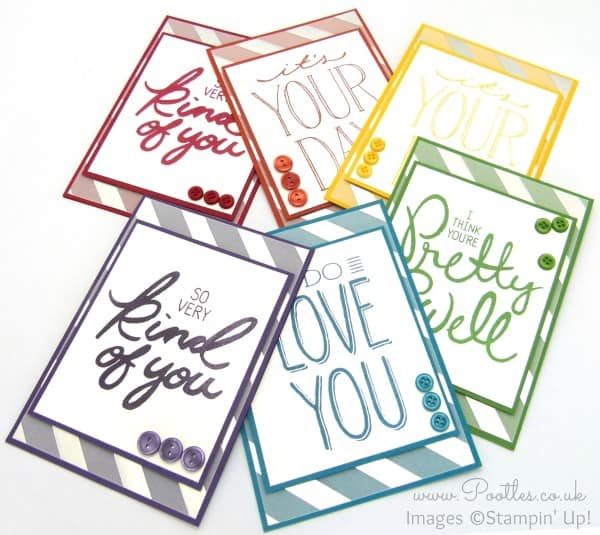 Stampin' Up! Demonstrator Pootles - A Regal Rainbow of Big on You Cards