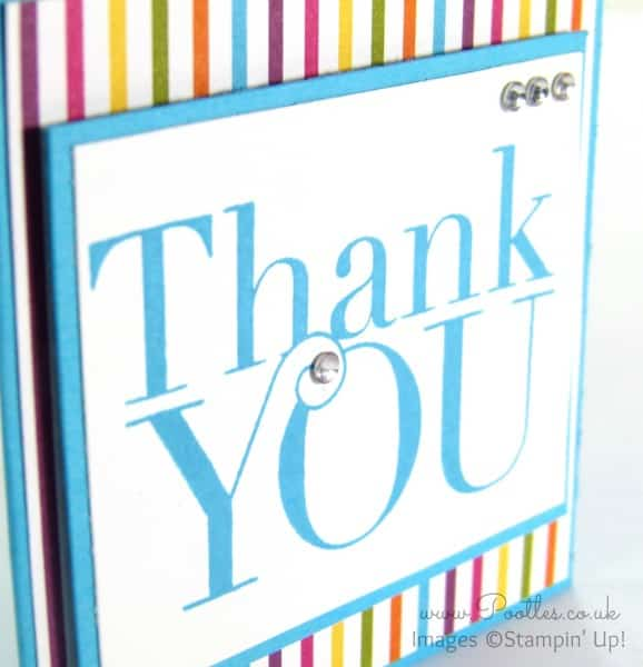Stampin' Up Demonstrator Pootles - Another Thank You with Sweet Taffy DSP Close Up