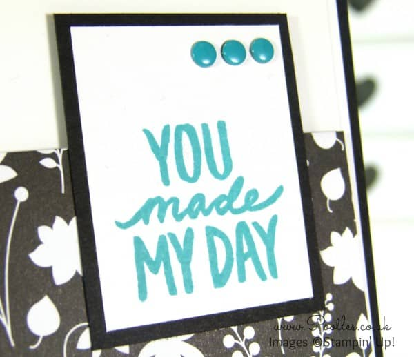 Stampin' Up! Demonstrator Pootles - Best Day Ever with Back to Black and Staples... close up