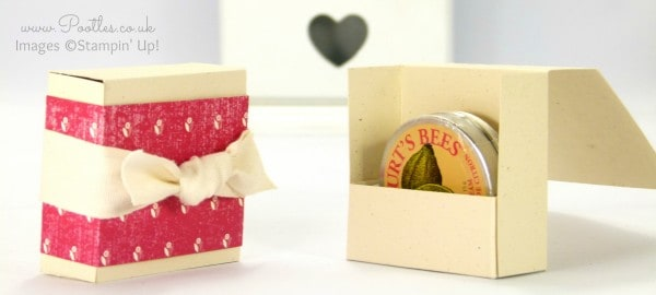 Stampin' Up! Demonstrator Pootles - Burts Bees Lemon Butter Clever Holder Box Tutorial