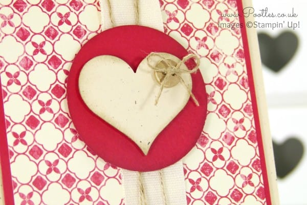 Stampin' Up! Demonstrator Pootles - Flashback Hearts and Golden Buttons Punch Detail