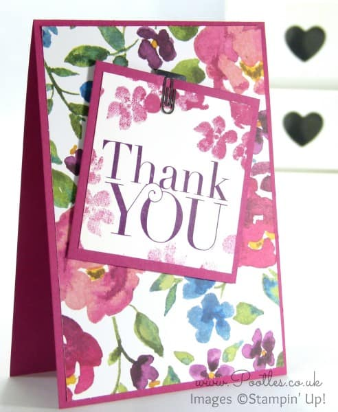 Stampin' Up! Demonstrator Pootles - Painted Blooms Thank You Cards 1