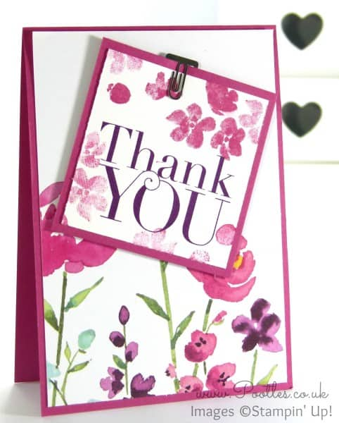 Stampin' Up! Demonstrator Pootles - Painted Blooms Thank You Cards 2