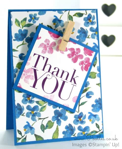 Stampin' Up! Demonstrator Pootles - Painted Blooms Thank You Cards 4