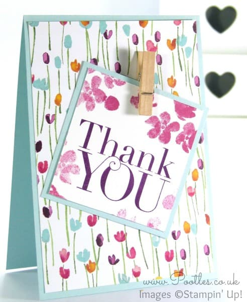Stampin' Up! Demonstrator Pootles - Painted Blooms Thank You Cards 5
