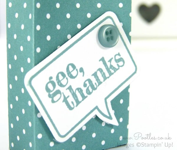 Stampin' Up Demonstrator Pootles Shares her son Jacob's Tic Tac Bag Tutorial! Die Cut Detail