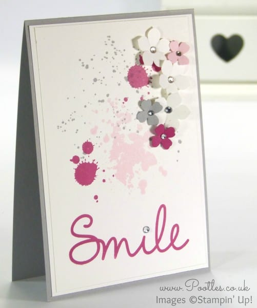 Stampin' Up! Demonstrator Pootles - Smile! A Gorgeous Grunge Card for my team!
