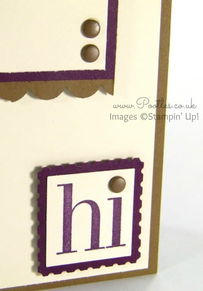 Stampin' Up! Demonstrator Pootles - Soft Suede & Blackberry Bliss Regarding Dahlias Punch Detail