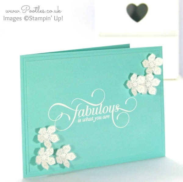 Stampin' Up! Demonstrator Pootles - White Heat Embossing on Vellum