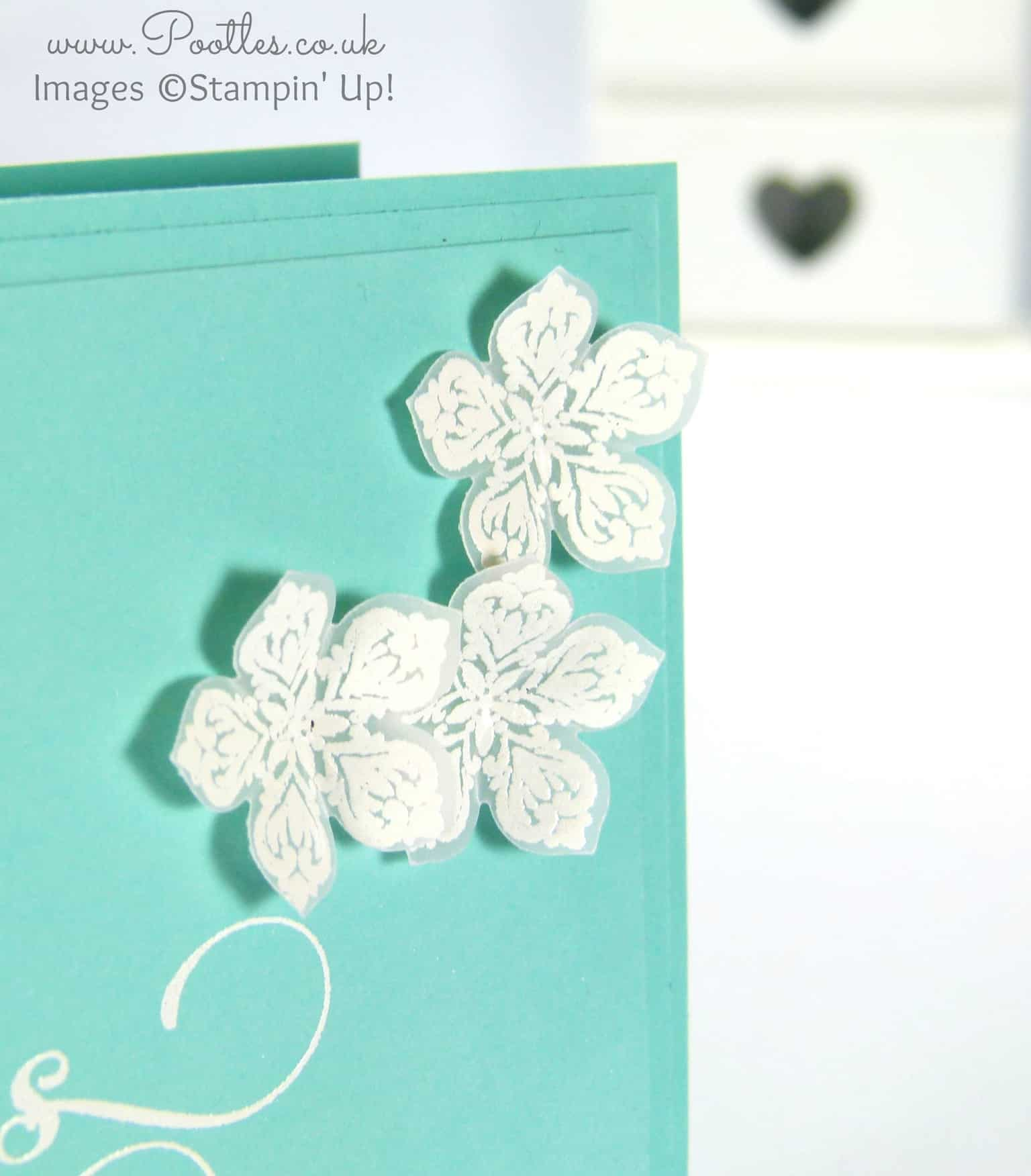 White Heat Embossing on Vellum