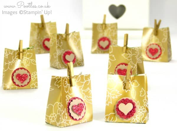 Stampin' Up! Gold Soiree DSP Favour Pouch Tutorial all 8
