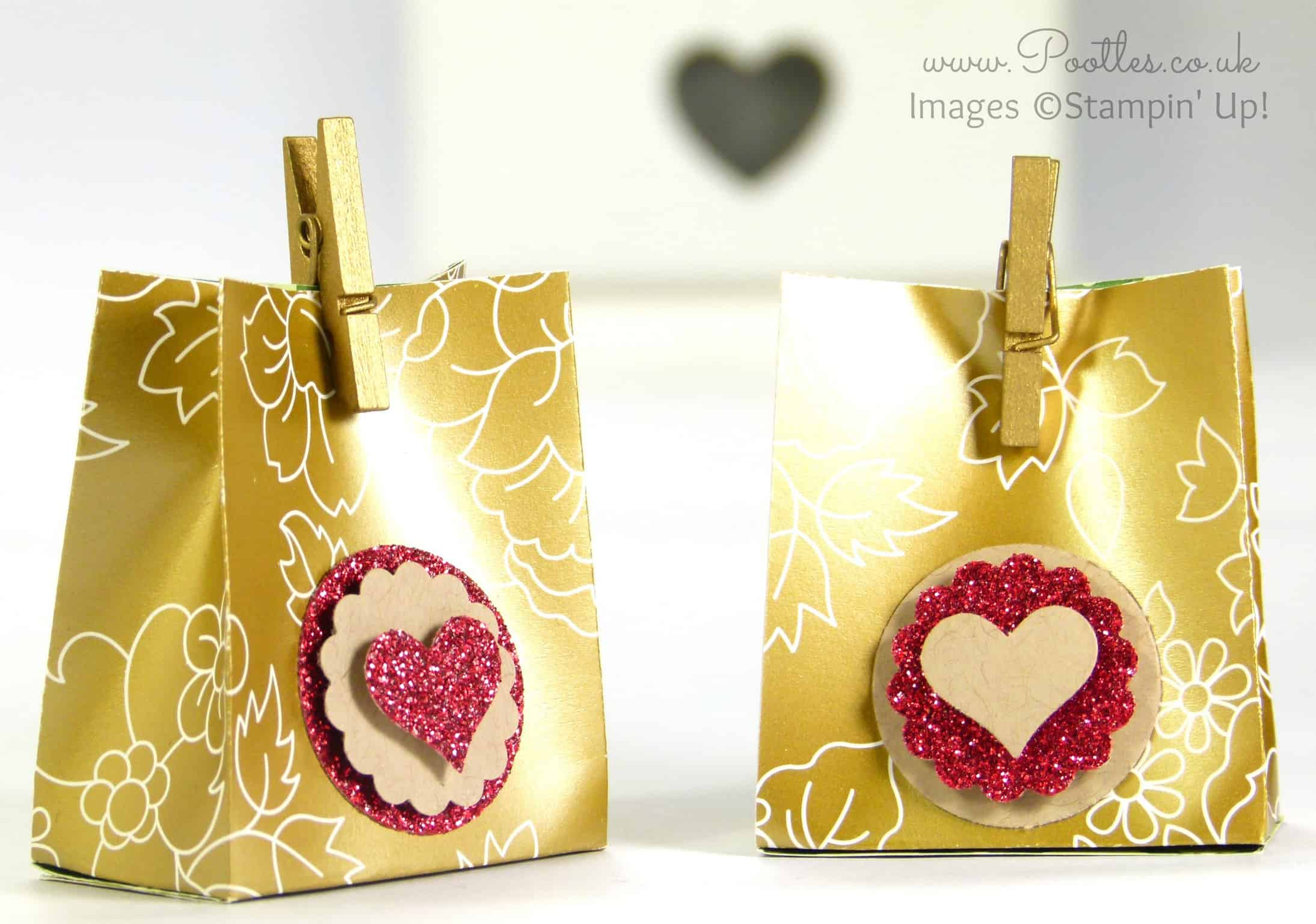 Stampin' Up! Gold Soiree DSP Favour Pouch Tutorial