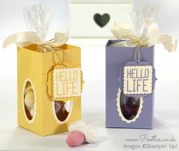 Stampin' Up! UK Demonstrator Pootles - Window Easter Egg Box Tutorial