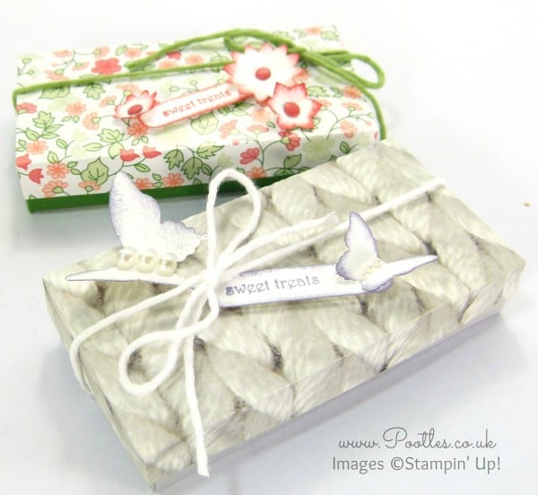 Sweet Treat Box Tutorial using Stampin' Up! DSP Overhead