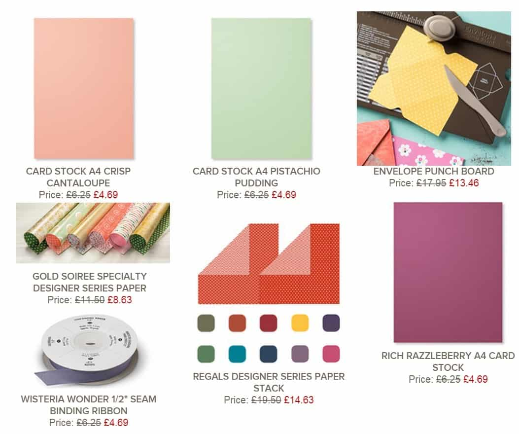 Envelope Punch Board in the Weekly Deals!!!!!