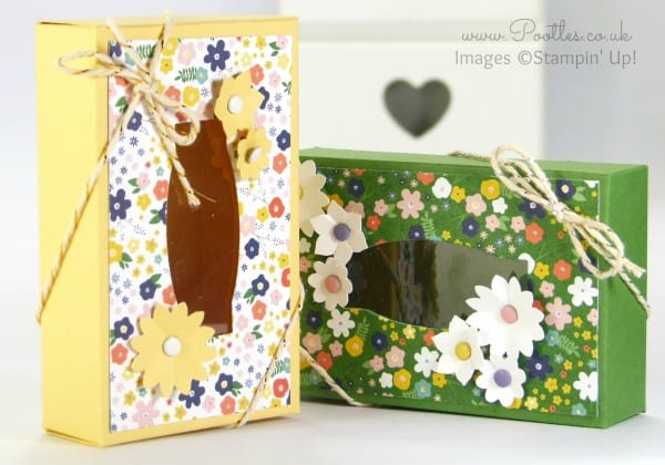 Stampin' Up! Demonstrator Pootles - Fold Flat Window Box Tutorial using Flowerpot DSP