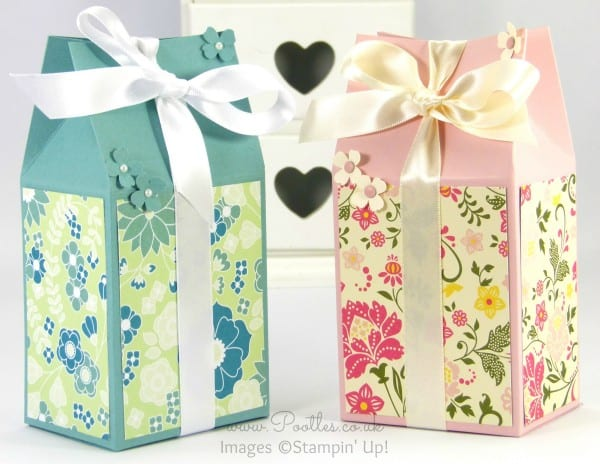 Stampin' Up! Floral Rectangular Milk Carton Tutorial