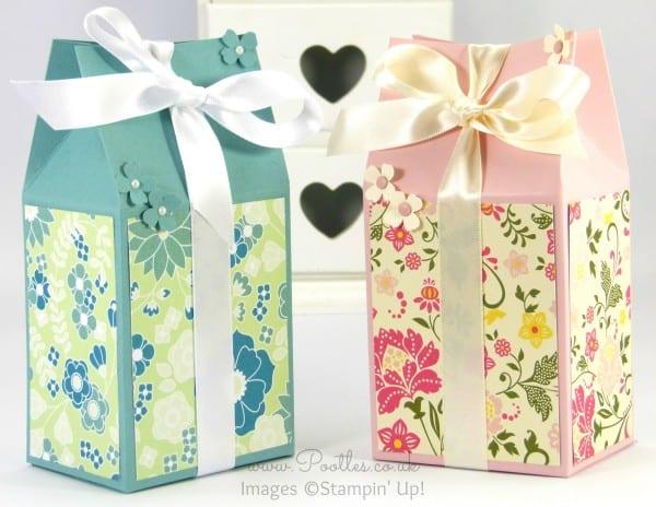 Stampin' Up! Floral Rectangular Milk Carton Tutorial