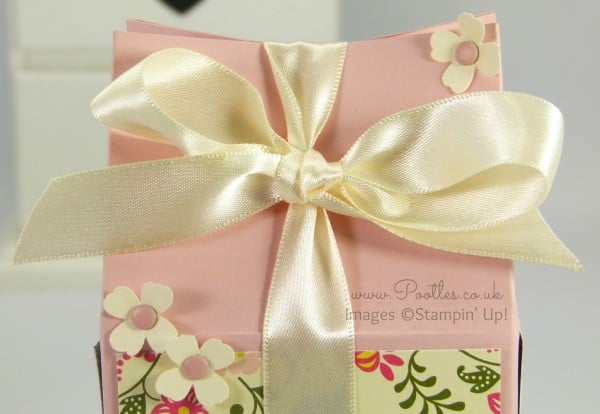 Stampin' Up! Floral Rectangular Milk Carton Tutorial Close Up