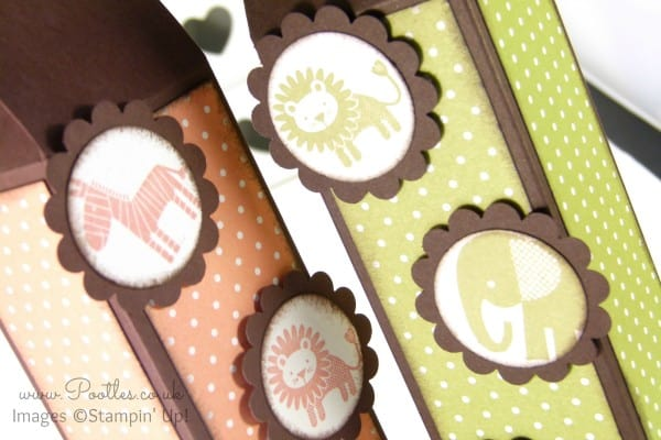 Stampin' Up! Tall Slim Baby Box Tutorial Stamped Detail