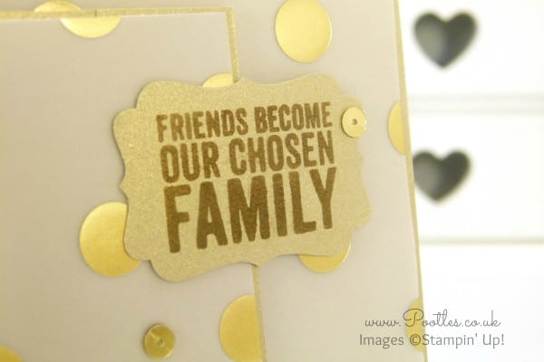 Stampin' Up! UK Golden Family Painted Petals close up
