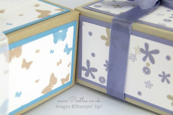 Perpetual Birthday Calendar Hand Stamped Box Tutorial close up
