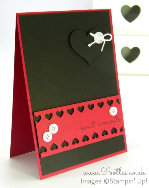 Pootles' Heart Card with Stampin' Up! and Project Life!