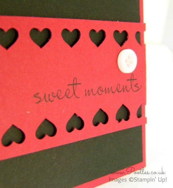 Pootles' Heart Card with Stampin' Up! and Project Life! Hearts Border Punch