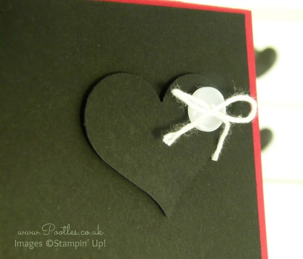 Pootles' Heart Card with Stampin' Up! and Project Life! Sweetheart Punch