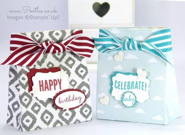 Pootles' Stampin' Up! Sweet Dreams DSP Gift Bag Tutorial