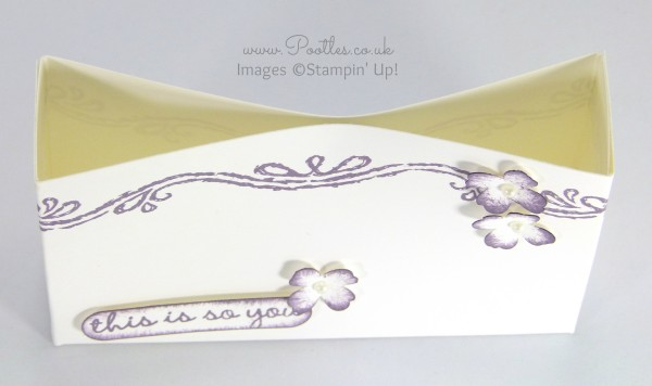 South Hill Designs & Stampin' Up! Sunday Inspire Goodie Bag Tutorial Overhead