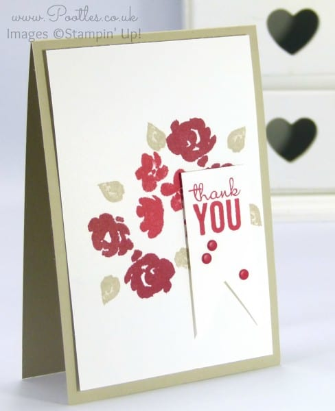 Stampin' Up! Demo Pootles - Real Red, Cherry Cobbler, Sahara Sand Painted Petals!